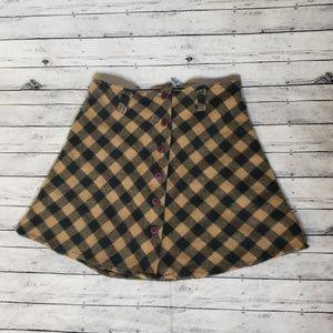 Dresses & Skirts - Plaid Wool Grunge Skater School Girl Skirt